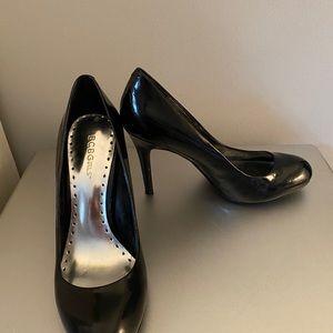 New BCBG Girls black patent leather heels